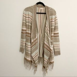 Altar'd State Multi Color Asymmetrical Cardigan S